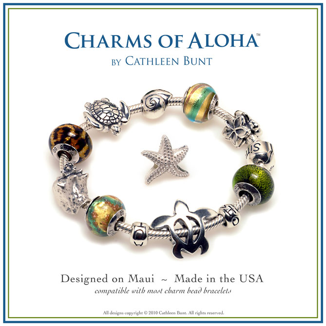 Charms of Aloha Bracelets by Cathleen Bunt