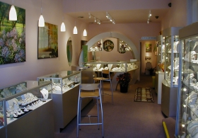 Interior of Sargent's Fine Jewelry